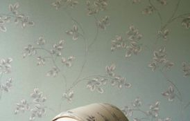 Frampton Duck Egg Wallpapaer Chair